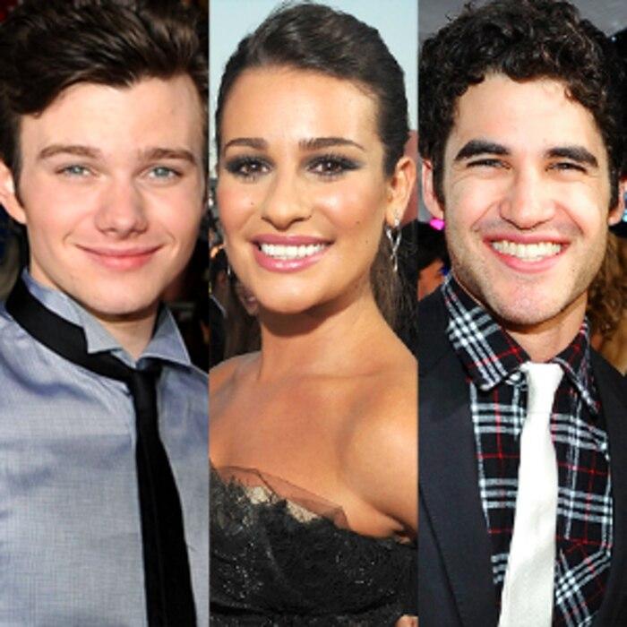 Chris Colfer, Lea Michele, Darren Criss