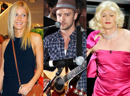 Justin Timberlake, Gwyneth Paltrow, James Franco