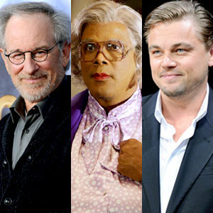 Steven Spielberg, Tyler Perry, Leo DiCaprio