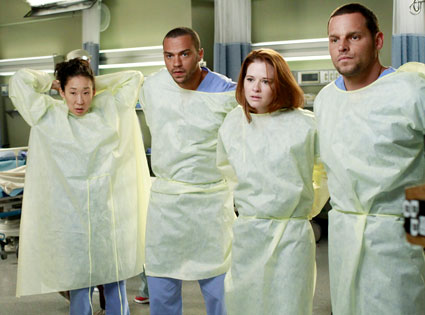 GREY'S ANATOMY, SANDRA OH, JESSE WILLIAMS, SARAH DREW, JUSTIN CHAMBERS