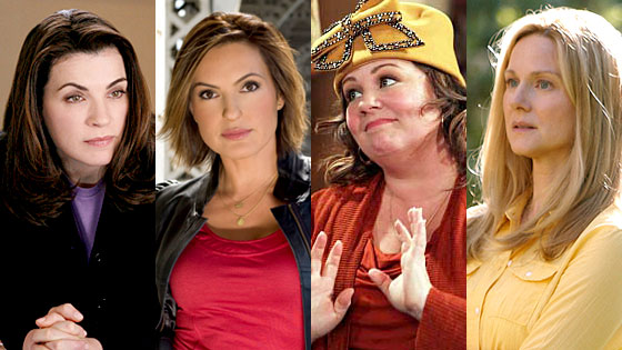 Julianna Margulies, The Good Wife, Mariska Hargitay, SVU, Melissa McCarthy, Mike and Molly, Laura Linney, The Big C
