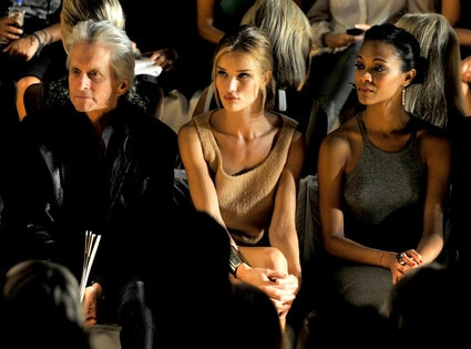 Michael Douglas, Rosie Huntington-Whiteley, Zoe Saldana
