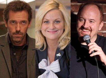 Hugh Laurie, House, Amy Poehler, Parks & Rec, Louis CK, Louis