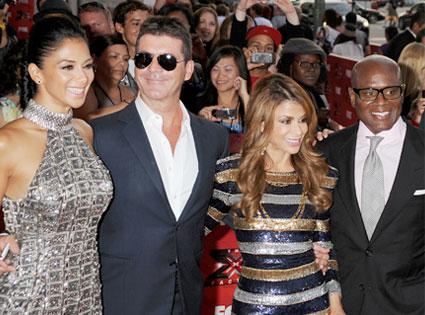 Nicole Scherzinger, Simon Cowell, Paula Abdul, Antonio 'L.A.' Reid