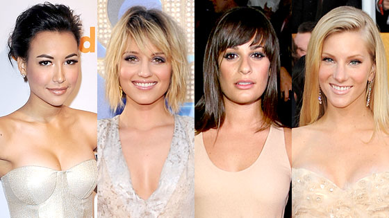 Naya Rivera, Dianna Agron, Lea Michele, Heather Morris
