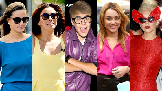 Pippa Middleton, Eva Longoria, Justin Bieber, Miley Cyrus, Lady Gaga