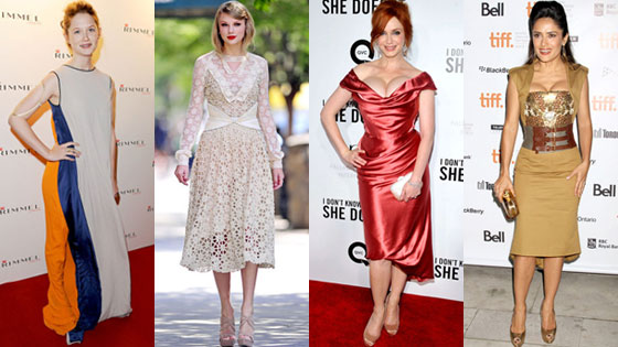 Bonnie Wright, Taylor Swift, Christina Hendricks, Salma Hayek