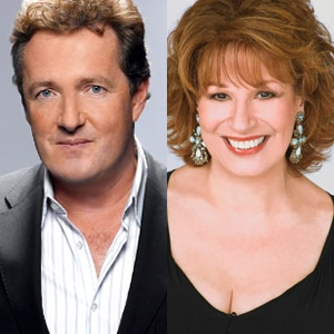 Piers Morgan, Joy Behar