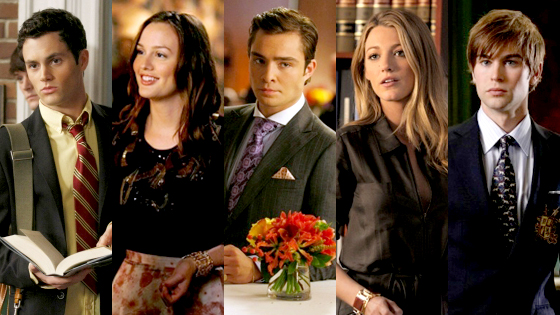 Penn Badgley, Leighton Meester, Ed Westwick, Blake Lively, Chace Crawford