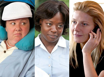 Viola Davis, The Help, Melissa McCarthy, Bridesmaids, Gwyneth Paltrow, Contagion