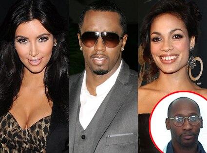 Kim Kardashian, Sean Diddy Combs, Rosario Dawson, Troy Davis
