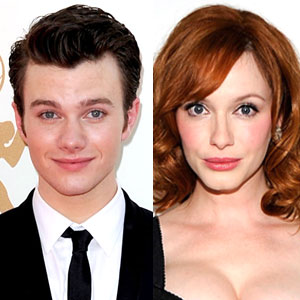 Christina Hendricks, Chris Colfer