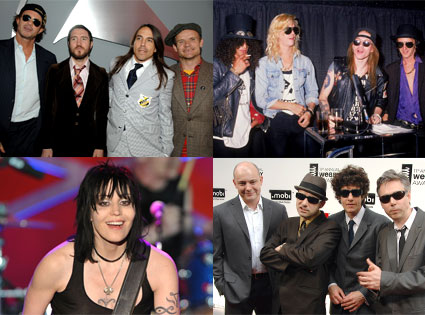 Beastie Boys, Joan Jett and the Blackhearts, Guns n Roses, Red Hot Chili Peppers