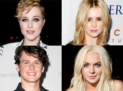 Evan Rachel Wood, Alison Lohman, Jonathan Groff, Lindsay Lohan