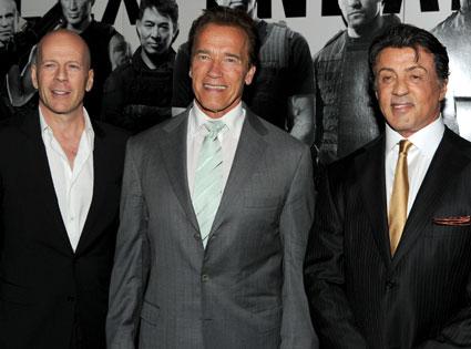 Bruce Willis, Arnold Schwarzenegger, Sylvester Stallone