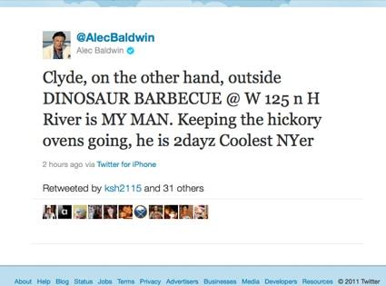 Alec Baldwin, Twitter
