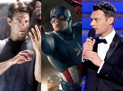 Tom Cruise, Chris Evans, Ryan Seacrest