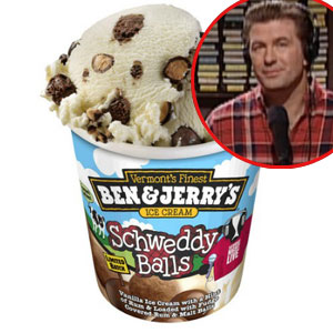Alec Baldwin, Ice Cream, Schweddy Balls