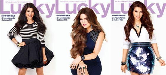 Lucky Magazine, Kim Kardashian, Khloe Kardashian, Kourtney Kardashian