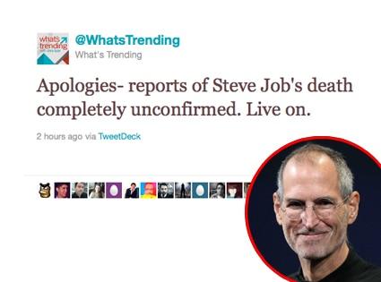 Steve Jobs, Twitter