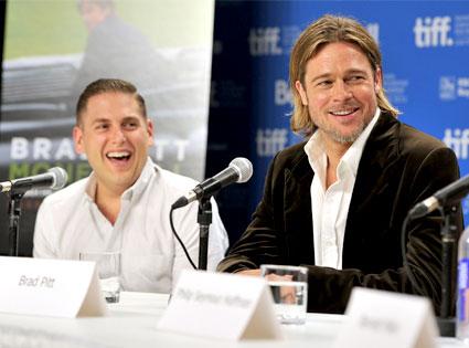 Jonah Hill, Brad Pitt