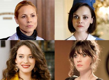 Maria Bello, Prime Suspect, Christina Ricci, Pan Am, Kat Dennings, 2 Broke Girls, Zooey Deschanel, New Girl