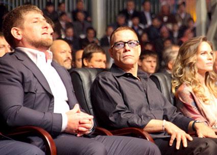 Jean-Claude Van Damme, Ramzan Kadyrov, Hilary Swank