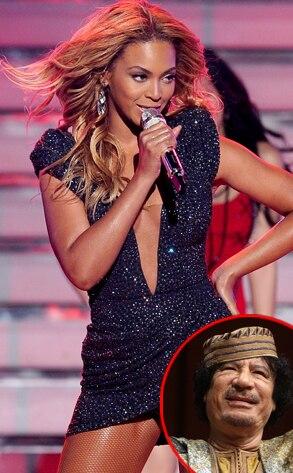 Beyonce, Muammar Gaddafi