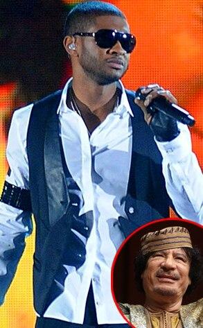 Usher, Muammar Gaddafi