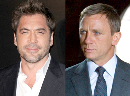 Javier Bardem, Daniel Craig, James Bond