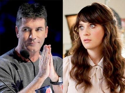 Simon Cowell, X Factor, Zooey Deschanel, New Girl