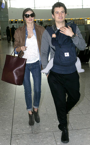 Miranda Kerr, Orlando Bloom, Flynn Bloom