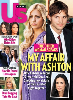 Us Weekly Cover, Ashton Kutcher, Sara Leal