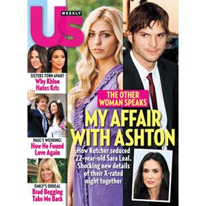 Us Weekly Cover, Ashton Kutcher, Sara Leal