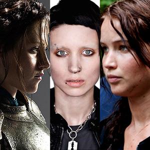 Kristen Stewart, Snow White, Rooney Mara, Dragon Tattoo, Jennifer Lawrence, Hunger Games