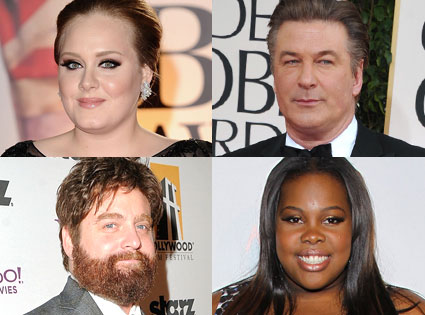 Adele, Zach Galifianakis, Alec Baldwin, Amber Riley