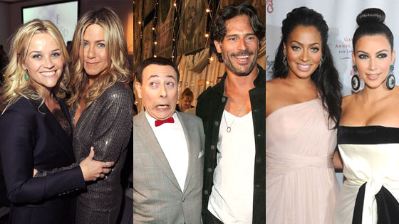 Reese Witherspoon, Jennifer Aniston, Paul Reubens, Pee Wee, Joe Manganiello, La La Anthony, Kim Kardashian
