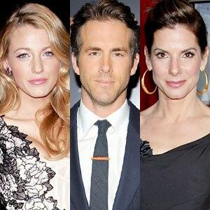 Blake Lively, Ryan Reynolds, Sandra Bullock