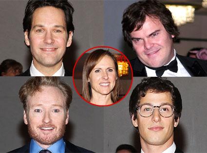 Paul Rudd, Conan O'Brien, Molly Shannon, Andy Samberg, Jack Black