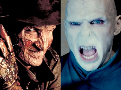 Top Monster, Freddy Kruger, Nightmare on Elm Street, Voldemort, Harry Potter