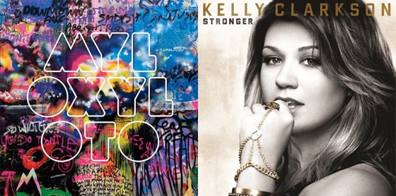 Coldplay, Mylo Xyloto, Kelly Clarkson, Stronger