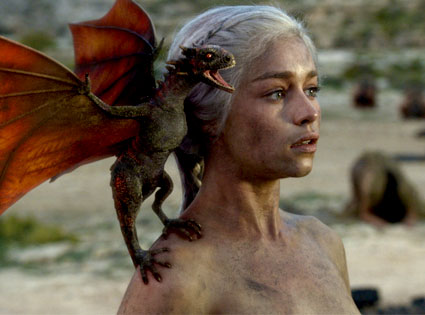 Game of Thrones, Emilia Clarke, Dragon