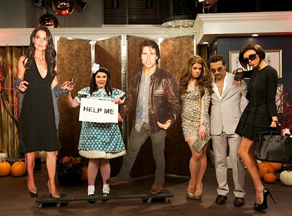 Joan Rivers, Kelly Osbourne, George Katsiopoulos, Giuliana Rancic, Fashion Police, Halloween