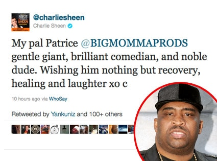 Charlie Sheen, Twitter, Patrice O'Neal