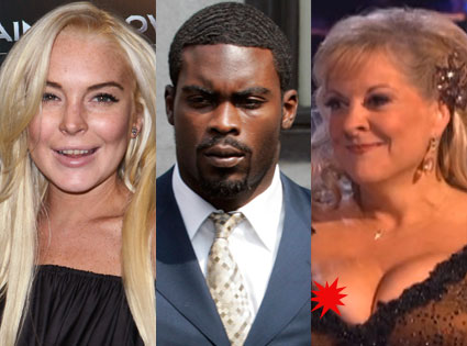 Lindsay Lohan, Michael Vick, Nancy Grace