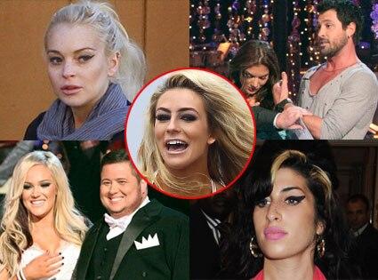 Chaz Bono, Lacey Schwimmer,Courtney Stodden, Lindsay Lohan, Amy Winehouse, Hope Solo, Maksim Chmerkovskiy