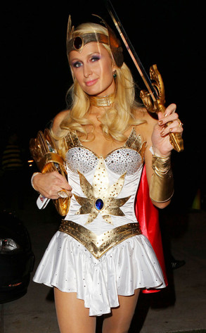 paris hilton from best celebrity halloween costumes e news