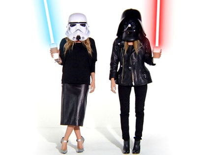 Mary-Kate Olsen, Ashley Olsen, Storm Trooper, Darth Vader