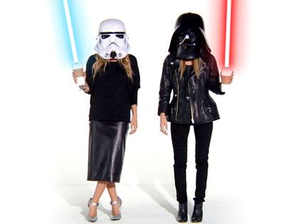 Mary-Kate Olsen, Ashley Olsen, Storm Trooper, Darth Vader