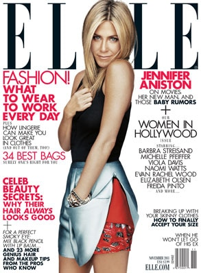 Jennifer Aniston, Elle Cover